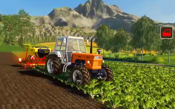 Real Tractor Farm Simulator And Cargo Animals poster
