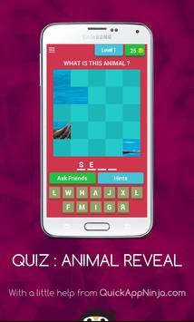 Quiz Animal Reveal poster