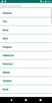 Hisense TV Remote Control App screenshot 1