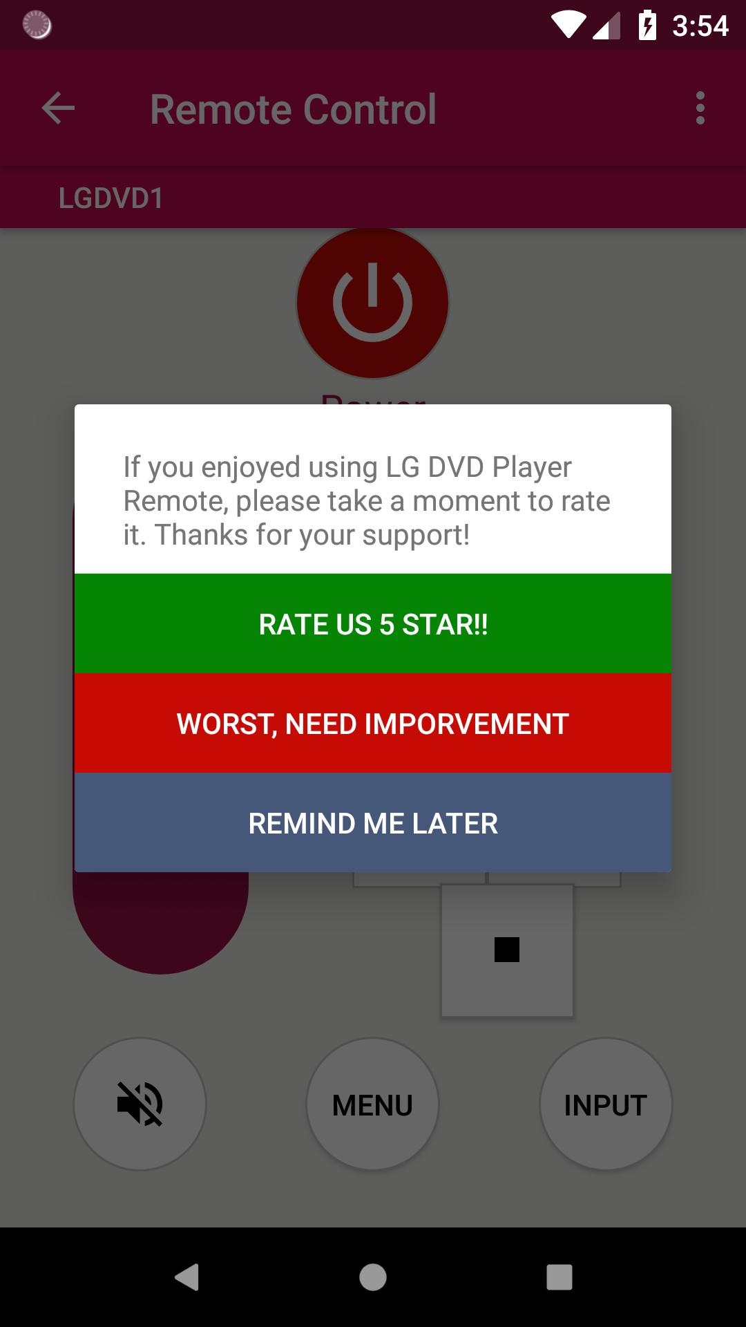 LG DVD Player remote for Android - APK Download