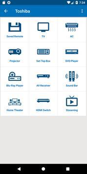 Toshiba TV Remote Control poster