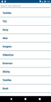 Toshiba TV Remote Control screenshot 1