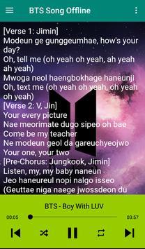 BTS Song plus Lyrics -  Offline screenshot 3