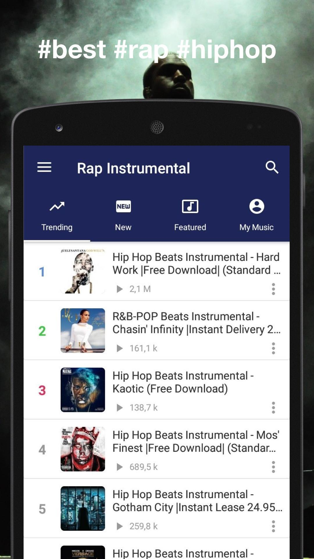 Instrumental Rap beats - Hip hop music 2019 for Android