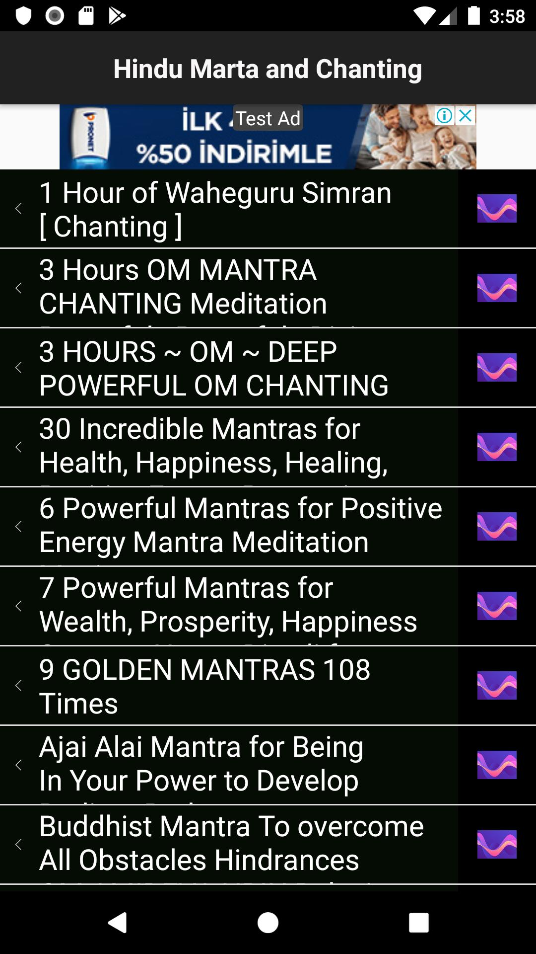 Positive energy chants