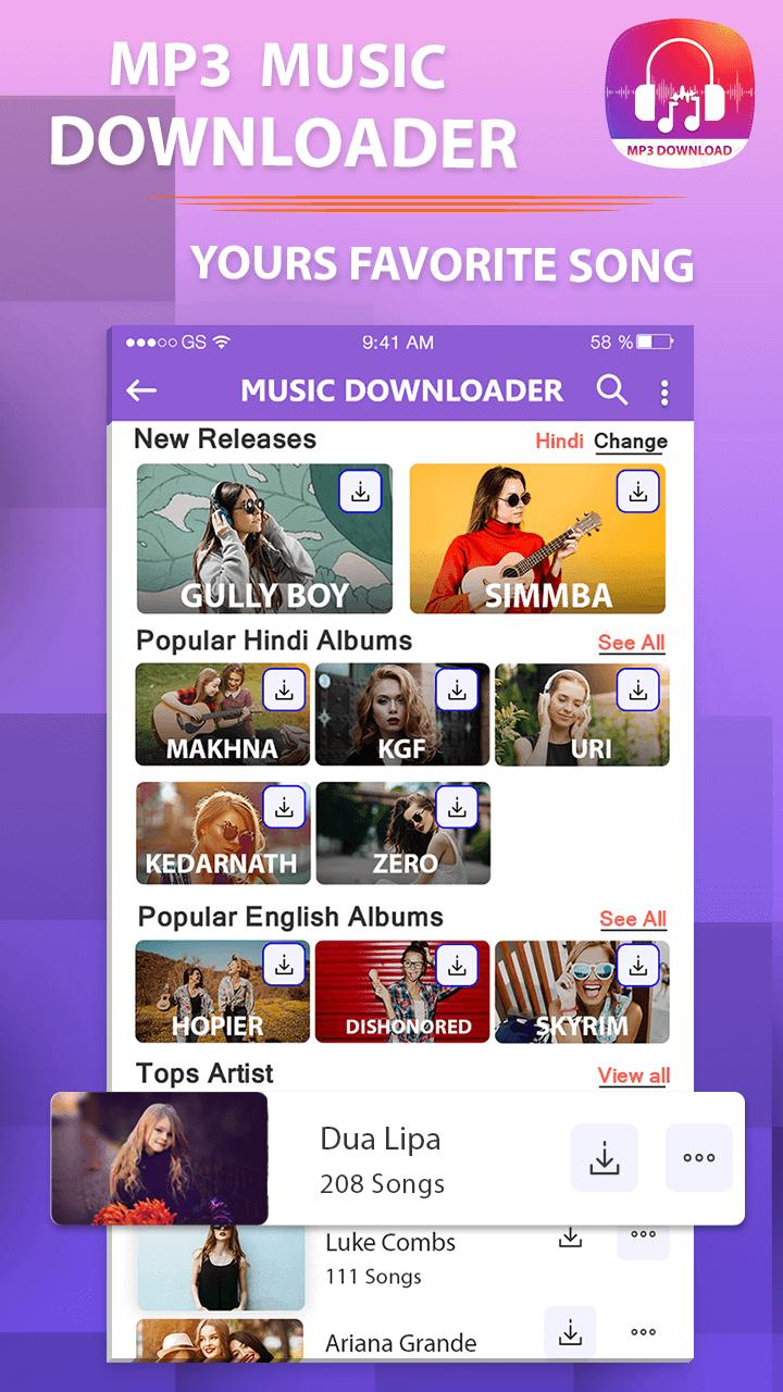 Mp3 music download-Free song downloader for Android - APK