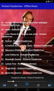 Richard Clayderman - Offline Music screenshot 2