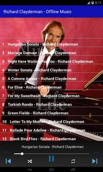 Richard Clayderman - Offline Music screenshot 6