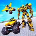 Flying Robot Monster Truck Transform: Robot Battle