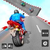 Police Bike Stunt Games: Mega Ramp Stunts Game