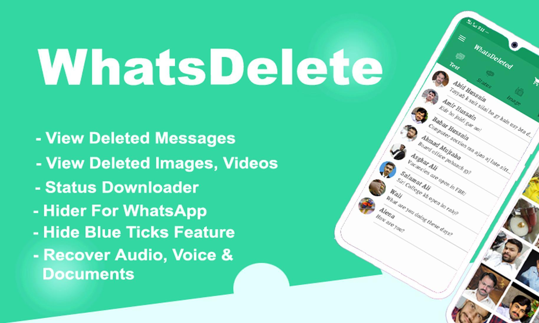Whatsdelete View Deleted Messages Status Saver For