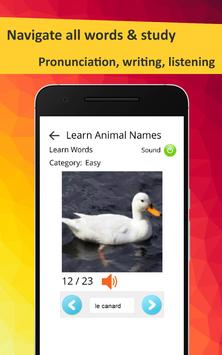 Learn Animals in French screenshot 11