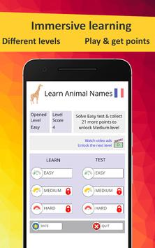 Learn Animals in French screenshot 1
