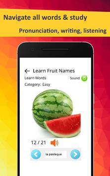 Learn Fruits in French screenshot 11
