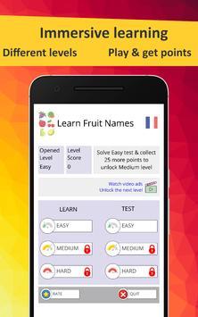 Learn Fruits in French screenshot 1
