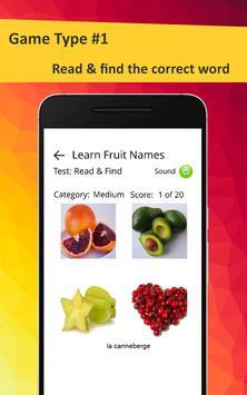 Learn Fruits in French screenshot 21