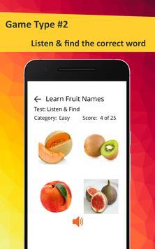 Learn Fruits in French screenshot 6