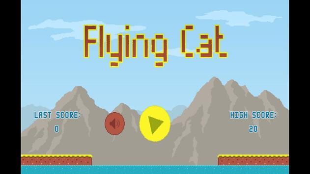 Flying Cat Cartaz
