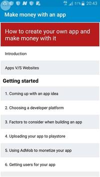 How to make money with an app poster