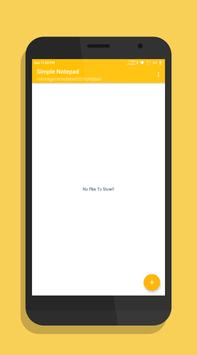 Simple Notepad poster