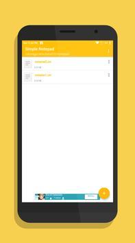 Simple Notepad screenshot 1