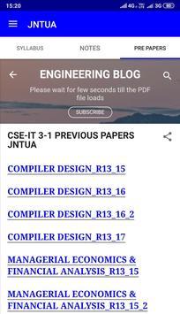 JNTUA STUDY MATERIALS PRE PAPERS IMP Q/A (B TECH) for