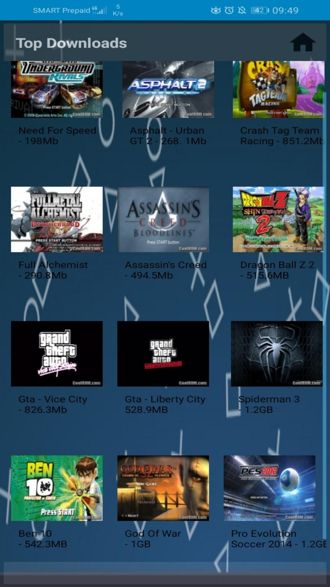games files for ppsspp