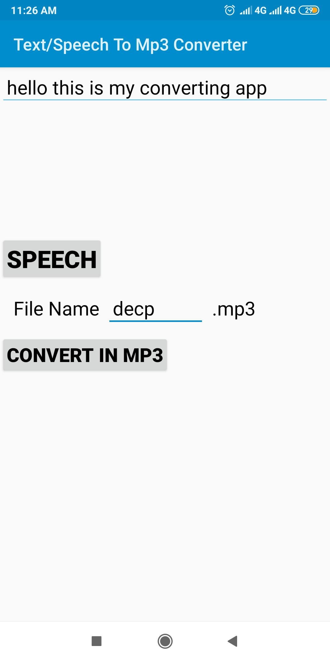 Text/Speech To Mp3 Converter for Android - APK Download
