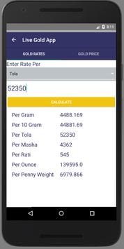 Gold Price Conversion For Android