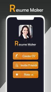 Fast cv maker-Build your pdf Resume poster