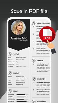 Fast cv maker-Build your pdf Resume screenshot 10