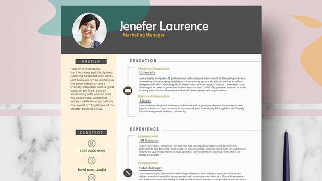 Fast cv maker-Build your pdf Resume screenshot 12