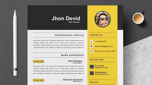 Fast cv maker-Build your pdf Resume screenshot 4