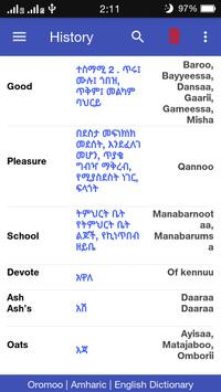 5 Schermata Oromoo ⇄ Amharic ⇄ English Dictionary Offline