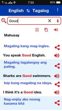 Tagalog ⇄  English Dictionary Offline screenshot 1
