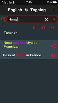 Tagalog ⇄  English Dictionary Offline screenshot 4