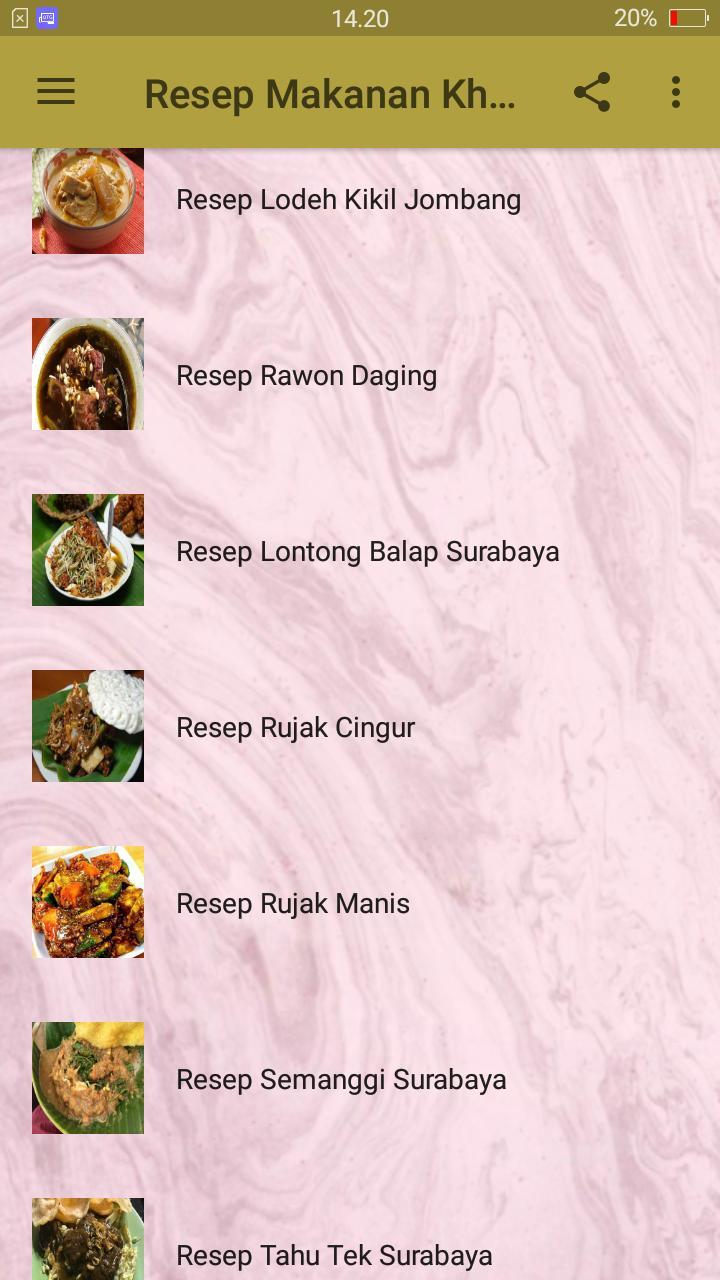 Resep Makanan Khas Jawa Timur Lengkap For Android Apk Download