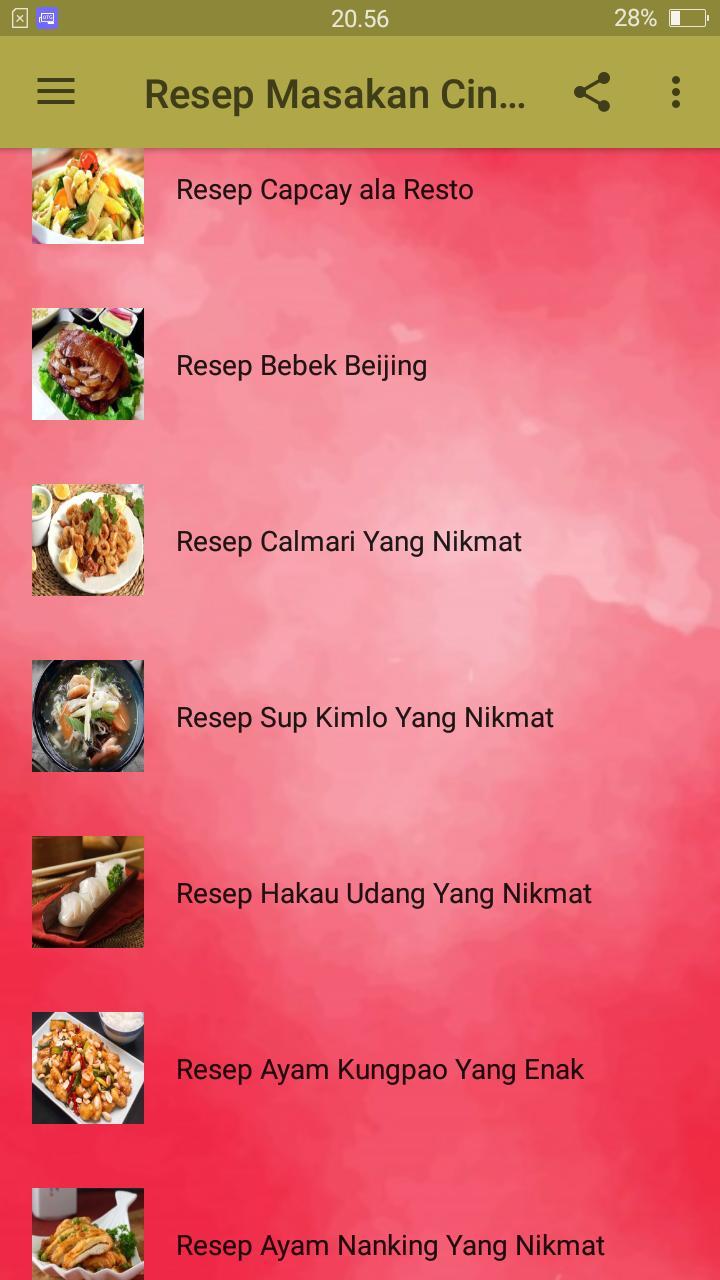 Resep Masakan China (Chinese Foods) poster