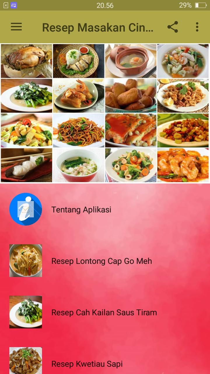 Resep Masakan China Chinese Foods For Android Apk Download