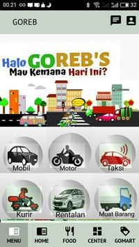 GOREB - Aplikasi Ojek, Mobil, Kurir & Toko Online poster