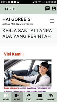 GOREB - Aplikasi Ojek, Mobil, Kurir & Toko Online screenshot 2