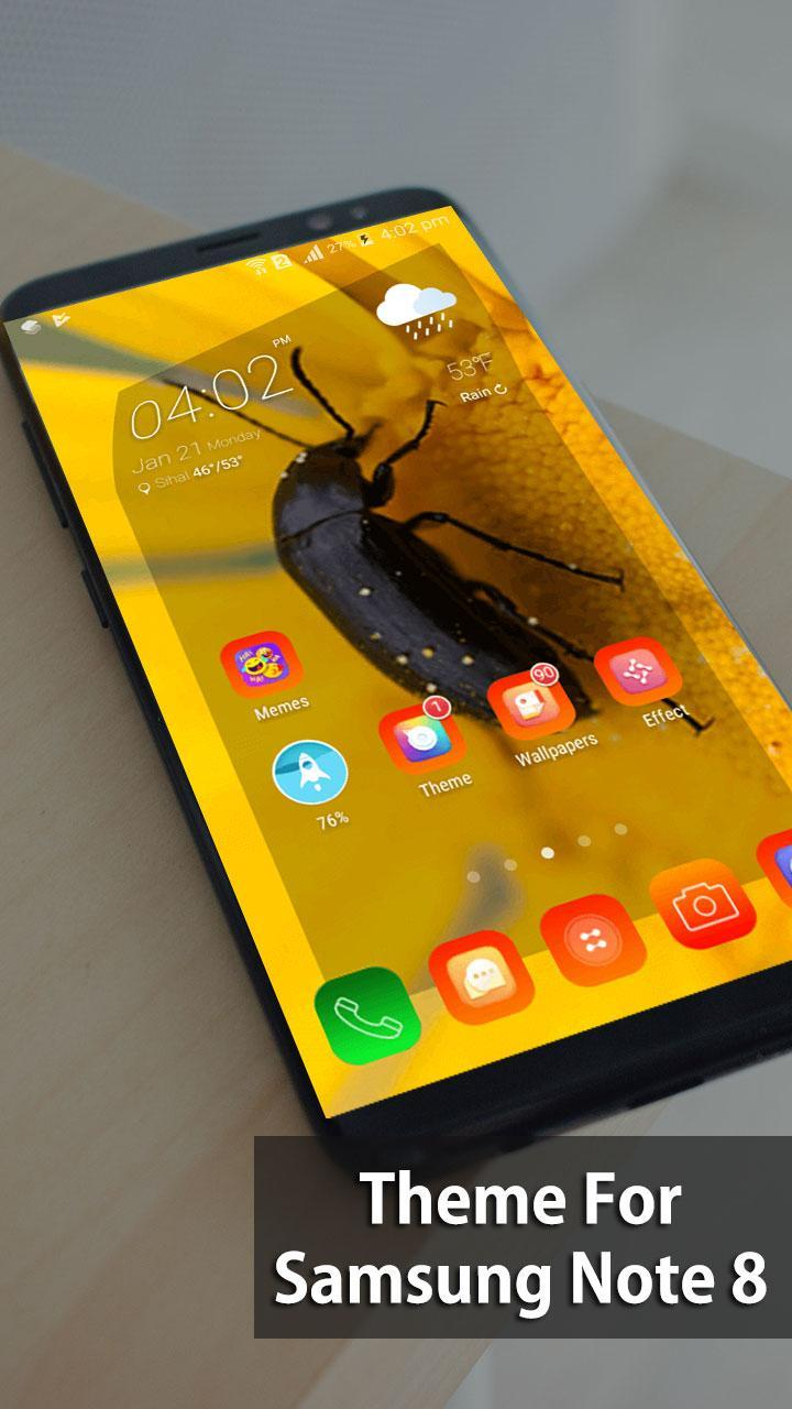 Theme for Samsung Galaxy Note 8 Launcher,Wallpaper for
