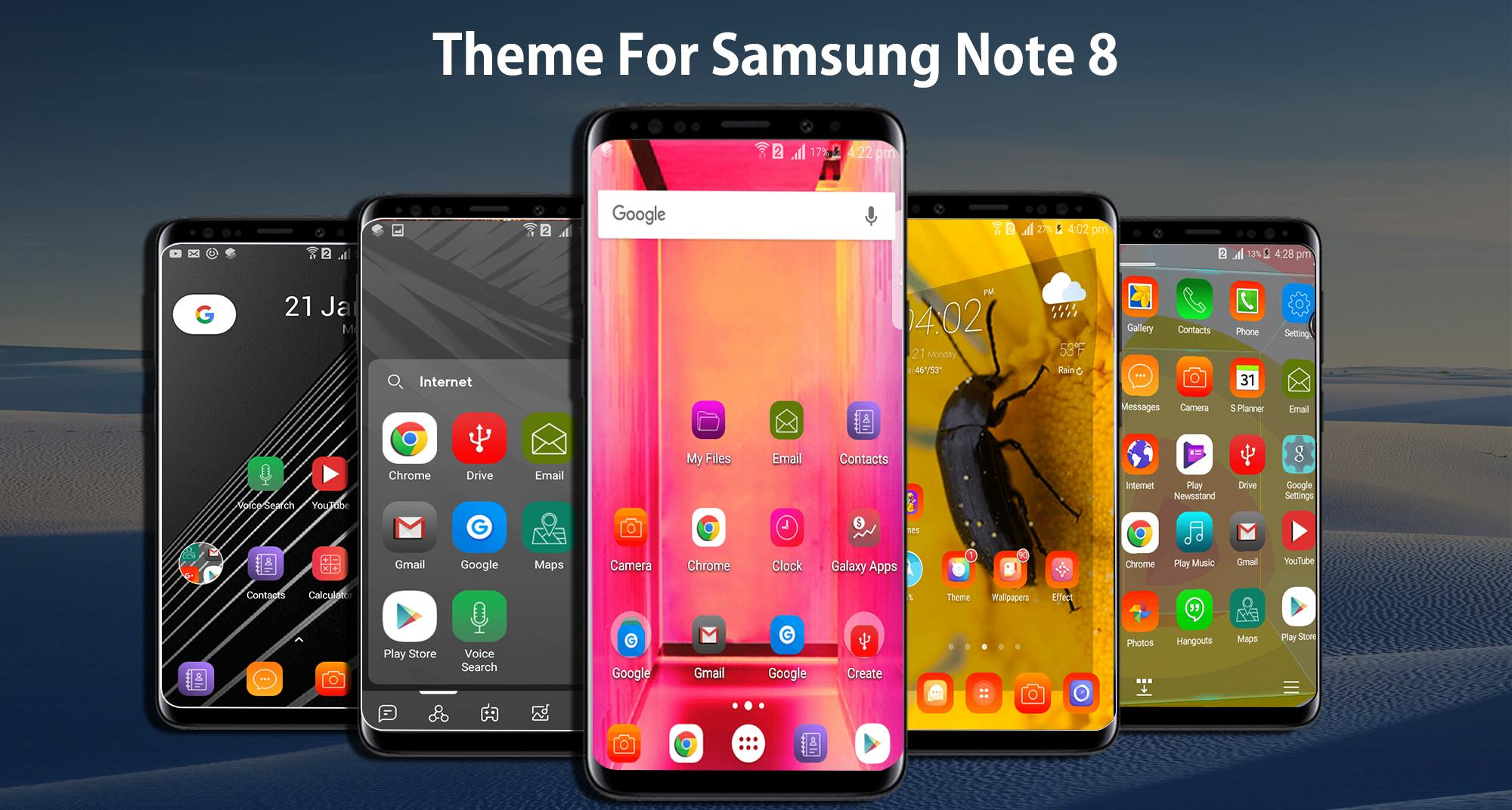 Theme For Samsung Galaxy Note 8 Launcher Wallpaper For Android Apk Download