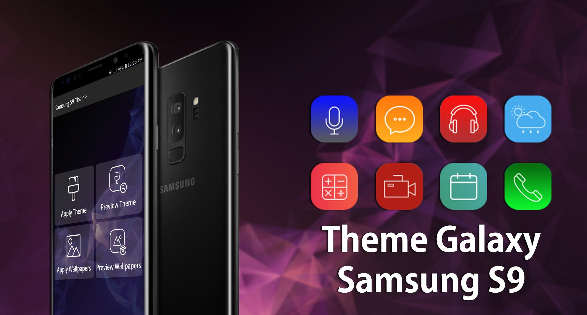 Theme for Samsung Galaxy S9 launcher, HD wallpaper for