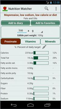 Nutrition Watcher screenshot 4