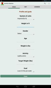 Nutrition Watcher screenshot 7