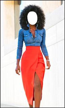 Beautiful Black Women Fashion Dress poster