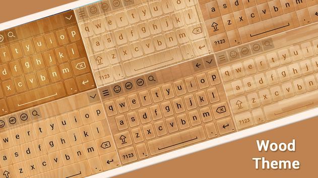 Wood Keyboard Theme poster