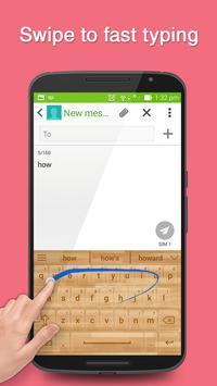 Wood Keyboard Theme screenshot 1
