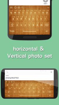 Wood Keyboard Theme screenshot 2
